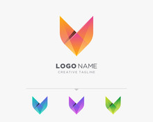 Abstract Letter V Or Fox Logo Variation