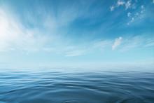 Blue Sea Or Ocean With Sunny A...