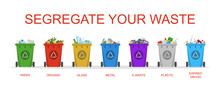 Segregate Your Waste Vector Is...
