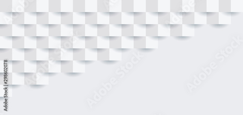 Pinturas sobre lienzo  White abstract background vector with blank space for text.