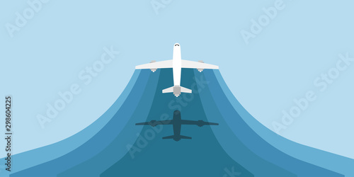 Fototapeta  Travel plane vector illustration tourism