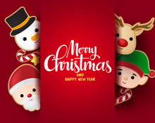 Christmas Greeting Vector Bac...