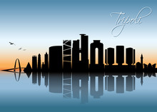 Tripoli Skyline - Libya - Vect...