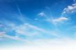 Leinwandbild Motiv white cloud on blue sky background