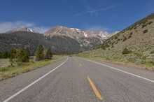 Scenic View Of Mountain Dana And Western Slopes Of Sierra Nevada From Tioga Road (Lee Vining, Mono County, California)