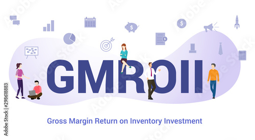 Fototapeta  gmroii gross margin return on inventory investment concept with big word or text