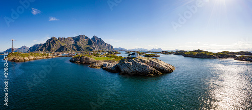 Poster Northern Europe Henningsvaer Lofoten is an archipelago in the county of Nordland, Norway.