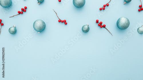 elementos de la navidad con espacio para texto Canvas Print