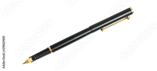 Fountain ink pen isolated clipping path