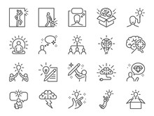Idea Line Icon Set. Included I...