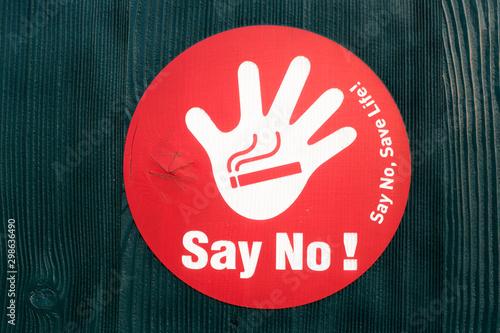 stop smoking logo no smoking sign symbol Wallpaper Mural
