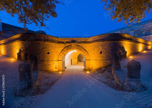 Tela  Ramparts as seen from inside of Ehrenbreitstein fortress, Koblenz, Upper Middle Rhine Valley (UNESCO World Heritage List, 2002), Rhineland-Palatinate, Germany, Europe