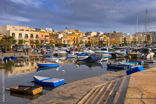Ta Xbiex Town and Harbour in Malta