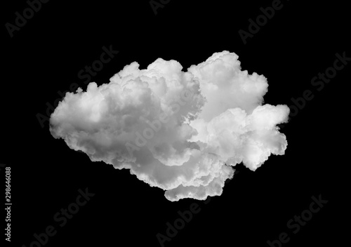 Valokuva  white clouds isolated on black background