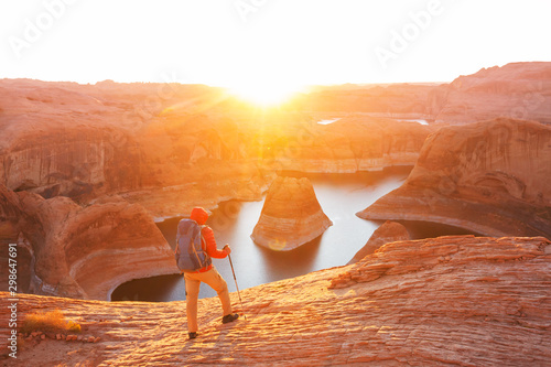 Foto op Canvas Arizona Reflection canyon