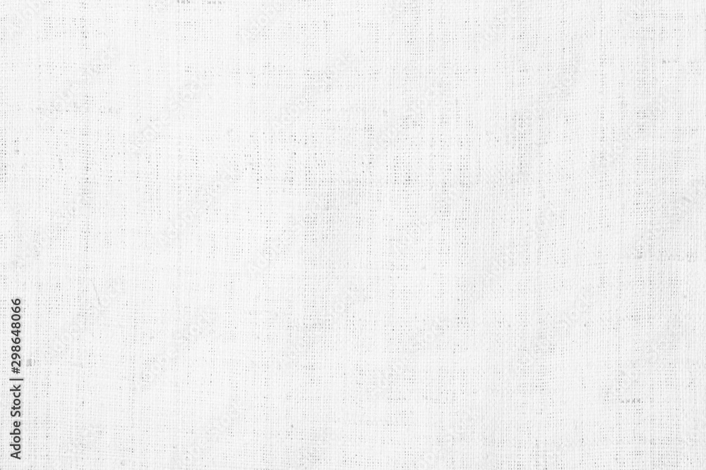 Fototapety, obrazy: White abstract cotton towel mock up template fabric on background. Cloth Wallpaper of artistic grey wale linen canvas texture. Cloth Blanket or Curtain of pattern and copy space for text decoration.