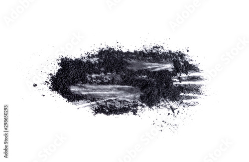 activated charcoal isolated on white background Canvas Print