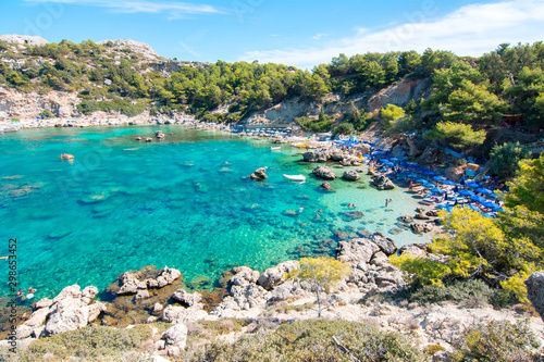 Photo Anthony Quinn Bay on Rhodes island, Greece