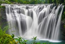 Shifen Waterfall, Pingxi, New Taipei, Taiwan. Popular Tourist Attraction