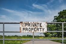 Private Property Sign Seen Att...