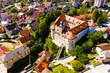 Leinwandbild Motiv Small Slovenian town Idrija
