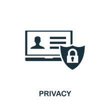 Privacy Vector Icon Symbol. Cr...