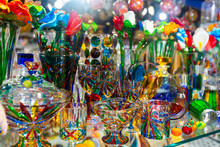Souvenirs From Murano Glass In Venice Gift Shop