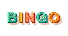 Bingo Vector Typography. Lotte...