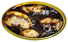 Stuffed Whole Squid In Ink Sauce