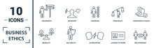 Business Ethics Icon Set. Incl...