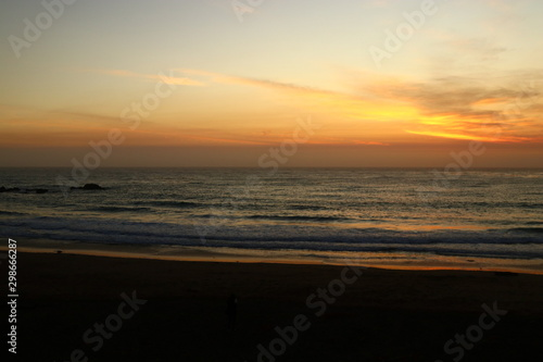 Sunset on Moonstone beach in Cambria California