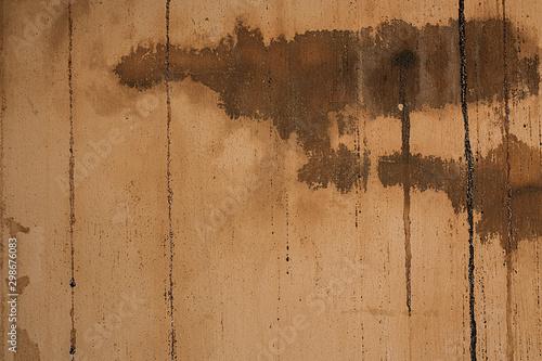 Obraz na plátně  Brudna ściana z plamami, które wyglądają jak krew .
