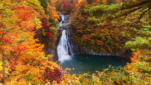 法体の滝 紅葉