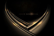 Abstract gold and black shiny background