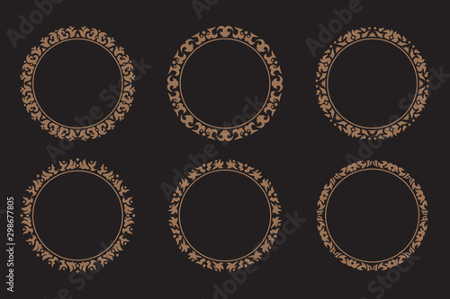 Fotomural  Abstract circle ornamental collection