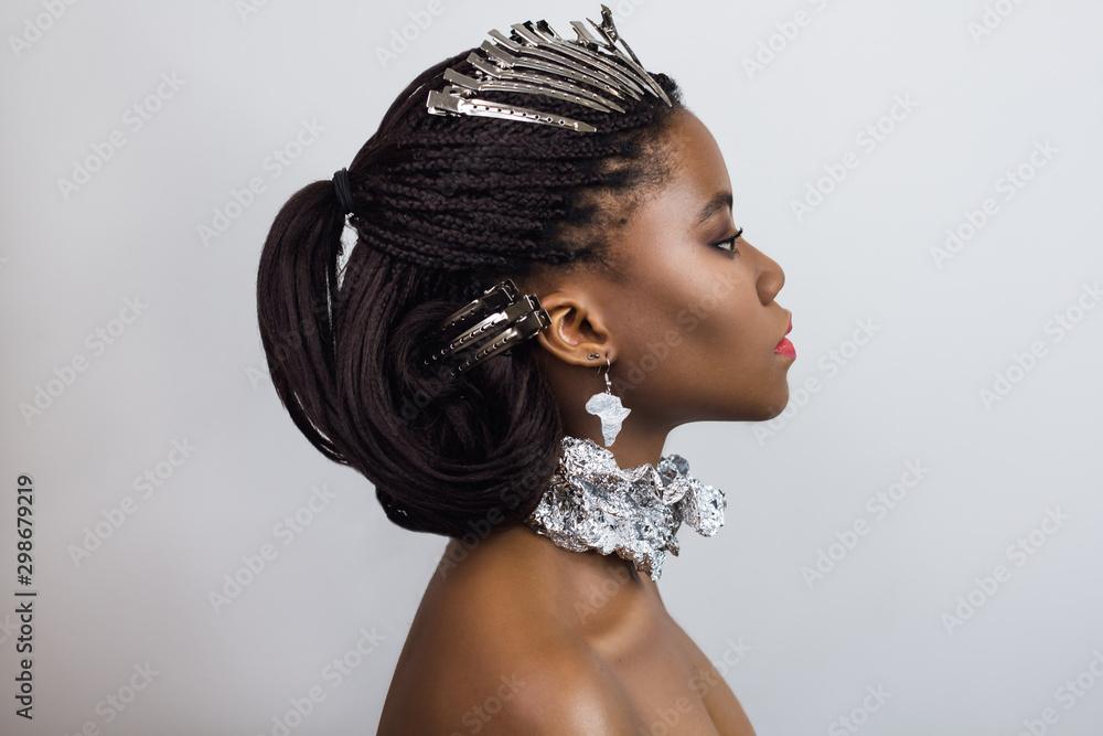 Fototapety, obrazy: Beauty portrait of African girl