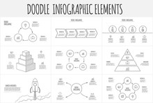 Doodle Infographic Set With Py...