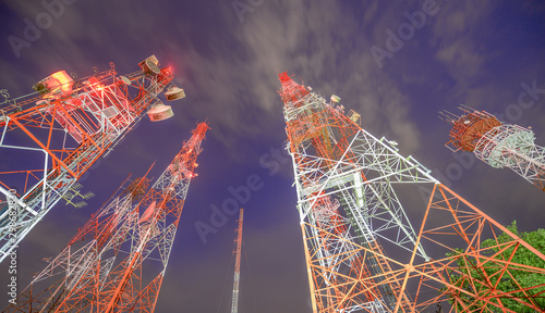 Fotografija telecommunication mast TV antennas wireless technology