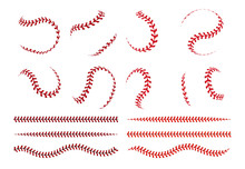 Baseball Ball Lace. Spherical ...