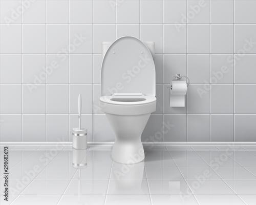 Cuadros en Lienzo  Realistic toilet