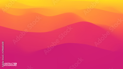 Tuinposter Lichtroze Gradient wave abstract background. Presentation template. Colorful waves background vector. EPS 10