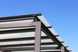 canvas print picture - Hochwertige Hofüberdachung bzw. hochwertiger Carport