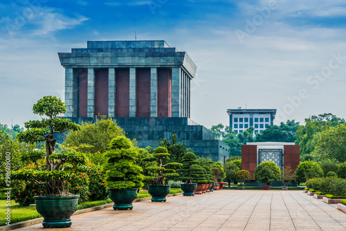 The President Ho Chi Minh Mausoleum in Hanoi, Vietnam