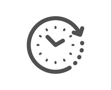 Clock Sign. Time Change Icon. Watch Symbol. Classic Flat Style. Simple Time Change Icon. Vector