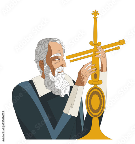 Vászonkép galileo galilei. great scientific astronomer.