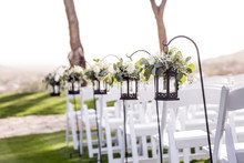 Wedding Aisle With Hanging Lan...