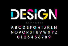 Modern Bright Colorful Font, A...