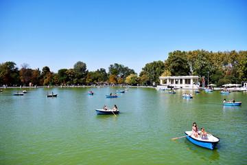 Fototapeta na wymiar The Retiro Park in Madrid. Spain. Europe. September 18, 2019
