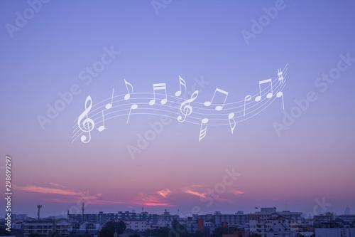 melody in the sky Fototapet
