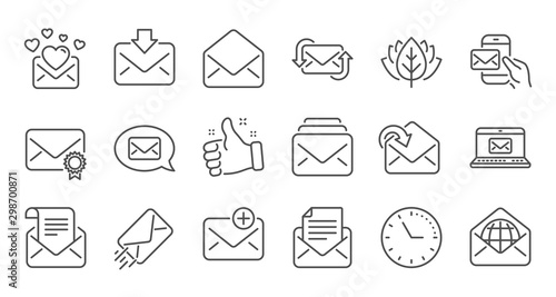 Photo Mail message line icons